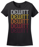 Ladies Black Dewitt, AR | Retro, Vintage Style Arkansas Pride  T-shirt