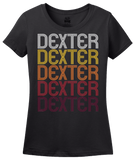 Ladies Black Dexter, NM | Retro, Vintage Style New Mexico Pride  T-shirt