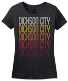 Ladies Black Dickson City, PA | Retro, Vintage Style Pennsylvania Pride  T-shirt