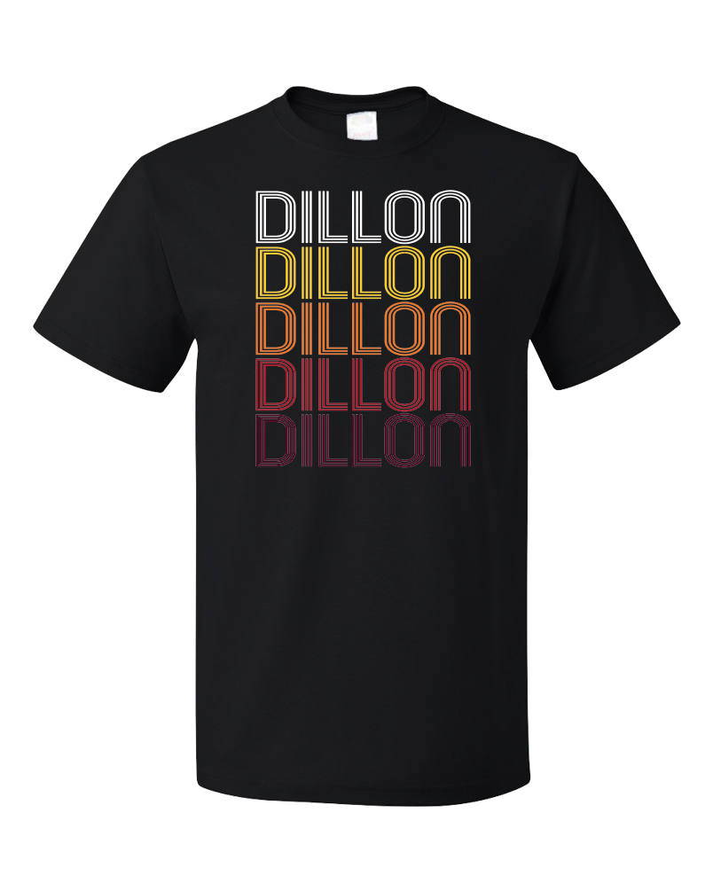 Standard Black Dillon, SC | Retro, Vintage Style South Carolina Pride  T-shirt