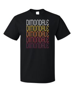 Standard Black Dimondale, MI | Retro, Vintage Style Michigan Pride  T-shirt