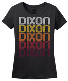 Ladies Black Dixon, CA | Retro, Vintage Style California Pride  T-shirt