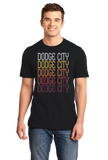 Standard Black Dodge City, KS | Retro, Vintage Style Kansas Pride  T-shirt