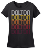 Ladies Black Dolton, IL | Retro, Vintage Style Illinois Pride  T-shirt