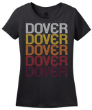 Ladies Black Dover, NH | Retro, Vintage Style New Hampshire Pride  T-shirt