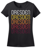 Ladies Black Dresden, TN | Retro, Vintage Style Tennessee Pride  T-shirt