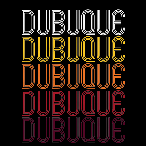 Dubuque, IA | Retro, Vintage Style Iowa Pride
