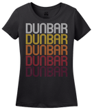 Ladies Black Dunbar, PA | Retro, Vintage Style Pennsylvania Pride  T-shirt