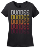 Ladies Black Dundee, NY | Retro, Vintage Style New York Pride  T-shirt