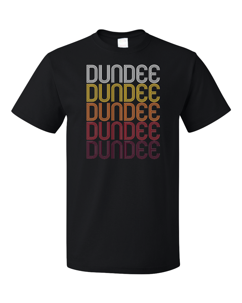 Standard Black Dundee, OR | Retro, Vintage Style Oregon Pride  T-shirt