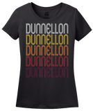 Ladies Black Dunnellon, FL | Retro, Vintage Style Florida Pride  T-shirt