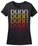 Ladies Black Dunn, NC | Retro, Vintage Style North Carolina Pride  T-shirt