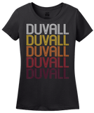 Ladies Black Duvall, WA | Retro, Vintage Style Washington Pride  T-shirt