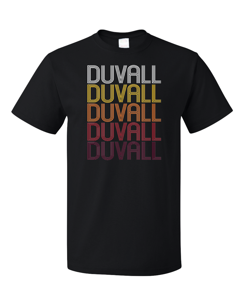 Standard Black Duvall, WA | Retro, Vintage Style Washington Pride  T-shirt