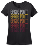 Ladies Black Eagle Point, OR | Retro, Vintage Style Oregon Pride  T-shirt