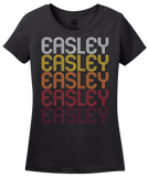 Ladies Black Easley, SC | Retro, Vintage Style South Carolina Pride  T-shirt