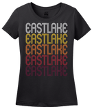 Ladies Black Eastlake, OH | Retro, Vintage Style Ohio Pride  T-shirt