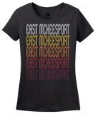 Ladies Black East Mckeesport, PA | Retro, Vintage Style Pennsylvania Pride  T-shirt