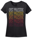 Ladies Black East Palestine, OH | Retro, Vintage Style Ohio Pride  T-shirt