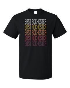Standard Black East Rochester, NY | Retro, Vintage Style New York Pride  T-shirt