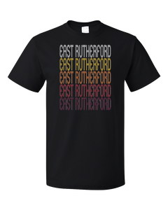 Standard Black East Rutherford, NJ | Retro, Vintage Style New Jersey Pride  T-shirt