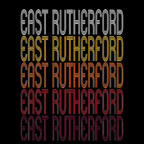 East Rutherford, NJ | Retro, Vintage Style New Jersey Pride