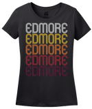 Ladies Black Edmore, MI | Retro, Vintage Style Michigan Pride  T-shirt