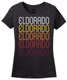 Ladies Black Eldorado, IL | Retro, Vintage Style Illinois Pride  T-shirt