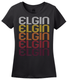 Ladies Black Elgin, SC | Retro, Vintage Style South Carolina Pride  T-shirt