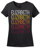 Ladies Black Elizabeth, NJ | Retro, Vintage Style New Jersey Pride  T-shirt