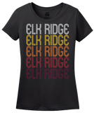 Ladies Black Elk Ridge, UT | Retro, Vintage Style Utah Pride  T-shirt