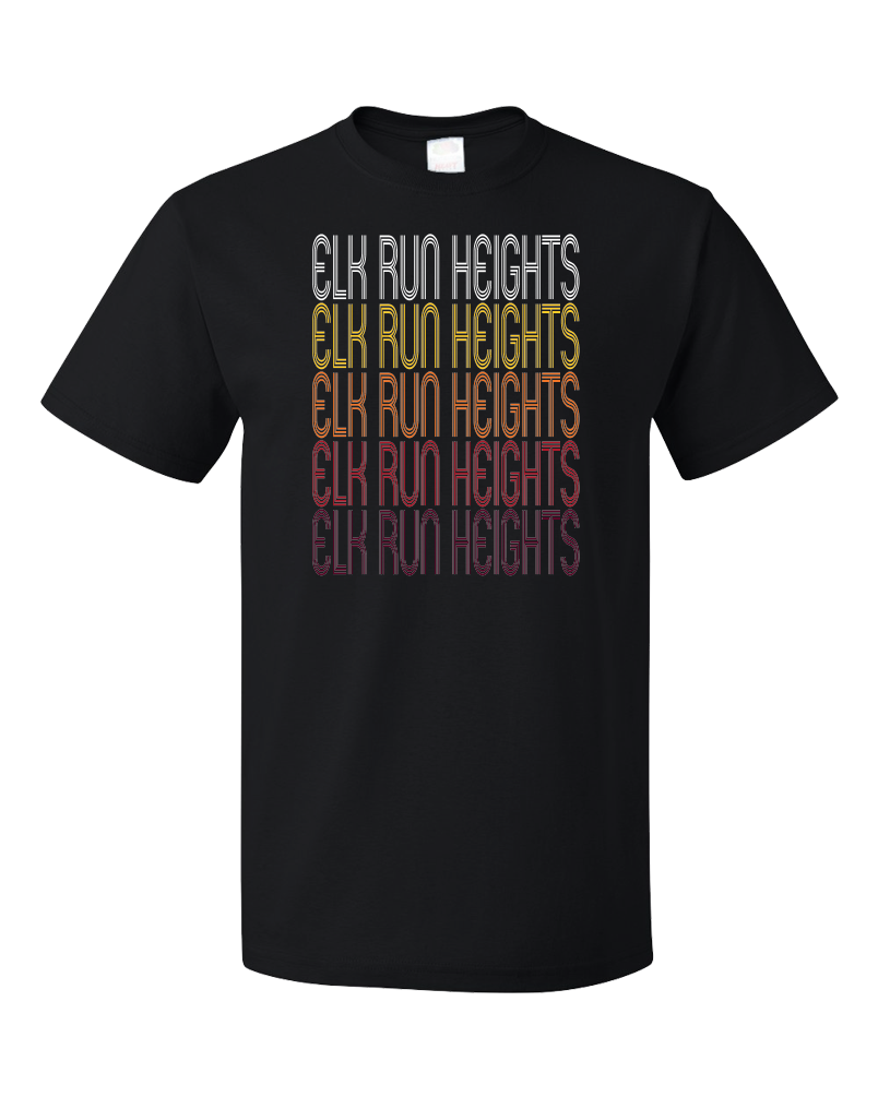Standard Black Elk Run Heights, IA | Retro, Vintage Style Iowa Pride  T-shirt