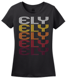 Ladies Black Ely, NV | Retro, Vintage Style Nevada Pride  T-shirt