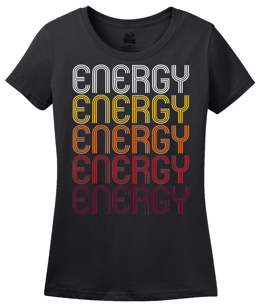 Ladies Black Energy, IL | Retro, Vintage Style Illinois Pride  T-shirt