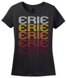 Ladies Black Erie, CO | Retro, Vintage Style Colorado Pride  T-shirt