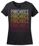 Ladies Black Fairchance, PA | Retro, Vintage Style Pennsylvania Pride  T-shirt