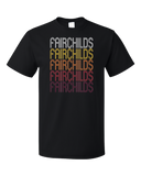 Standard Black Fairchilds, TX | Retro, Vintage Style Texas Pride  T-shirt