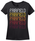 Ladies Black Fairfield, AL | Retro, Vintage Style Alabama Pride  T-shirt