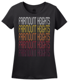 Ladies Black Fairmount Heights, MD | Retro, Vintage Style Maryland Pride  T-shirt
