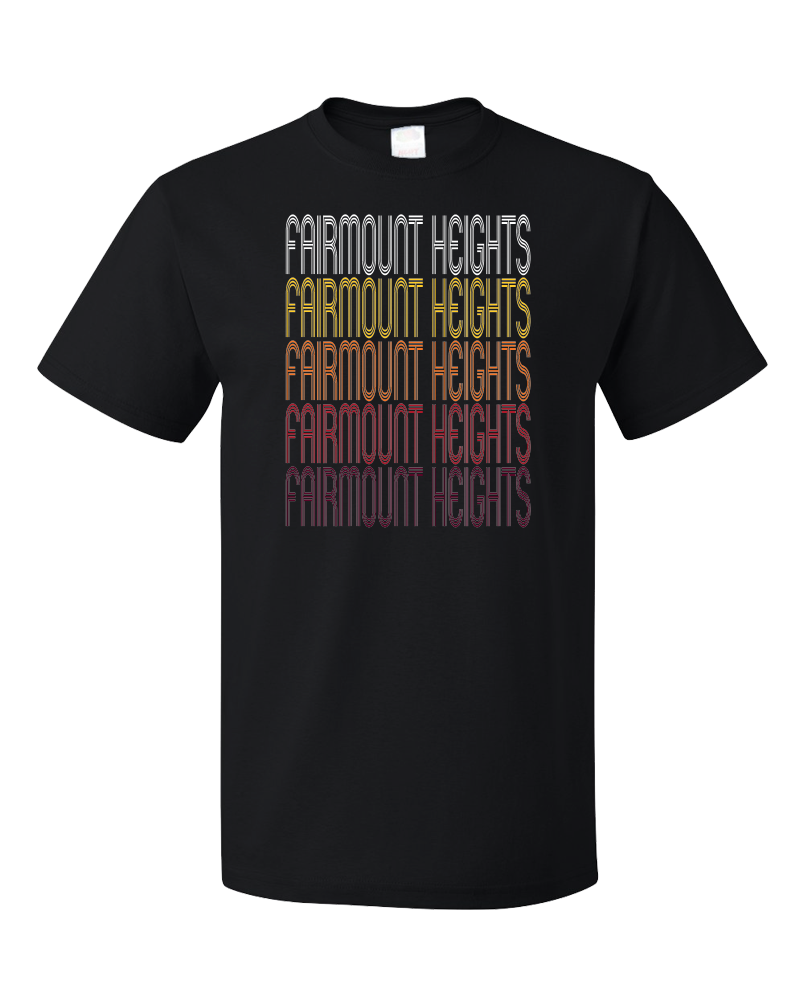 Standard Black Fairmount Heights, MD | Retro, Vintage Style Maryland Pride  T-shirt