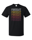 Standard Black Fairmount, IN | Retro, Vintage Style Indiana Pride  T-shirt