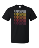 Standard Black Fairview, NC | Retro, Vintage Style North Carolina Pride  T-shirt