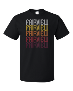 Standard Black Fairview, NJ | Retro, Vintage Style New Jersey Pride  T-shirt