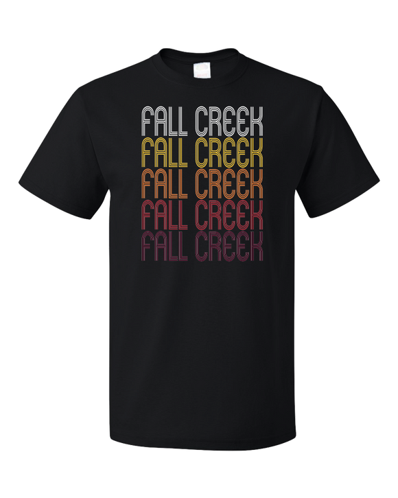 Standard Black Fall Creek, WI | Retro, Vintage Style Wisconsin Pride  T-shirt
