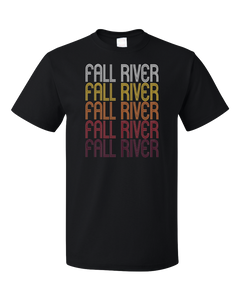 Standard Black Fall River, MA | Retro, Vintage Style Massachusetts Pride  T-shirt