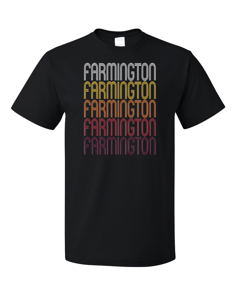 Standard Black Farmington, IL | Retro, Vintage Style Illinois Pride  T-shirt