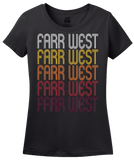 Ladies Black Farr West, UT | Retro, Vintage Style Utah Pride  T-shirt