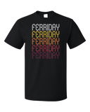 Standard Black Ferriday, LA | Retro, Vintage Style Louisiana Pride  T-shirt