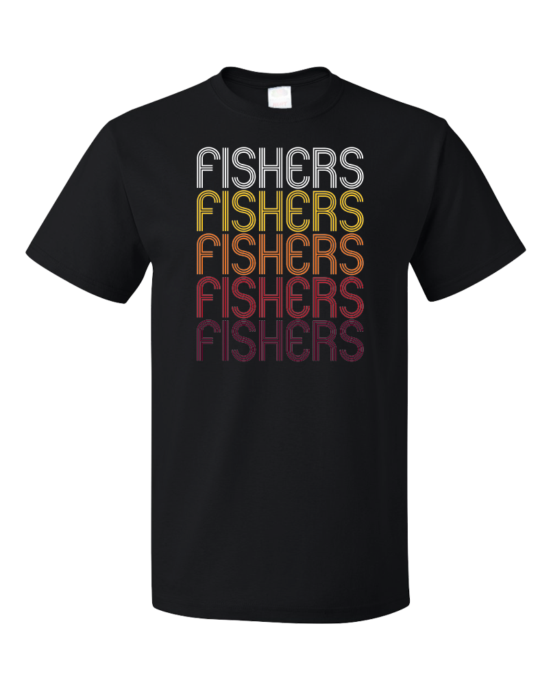 Standard Black Fishers, IN | Retro, Vintage Style Indiana Pride  T-shirt