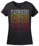 Ladies Black Flemington, NJ | Retro, Vintage Style New Jersey Pride  T-shirt